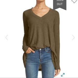 NWT Free People Anna Burnout Tee S